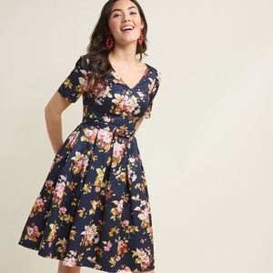 ModCloth Elegant Instance Fit and Flare Dress